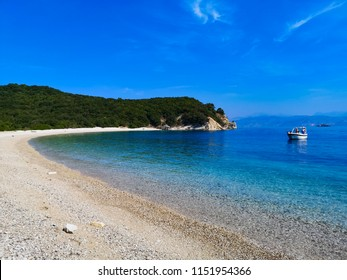 gravel beach in Greece