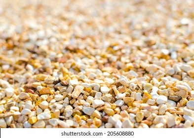 Gravel Depth Of Field , Stone grit Depth Of Field , Yellow gravel , gravel outdoor , Gravel abstract