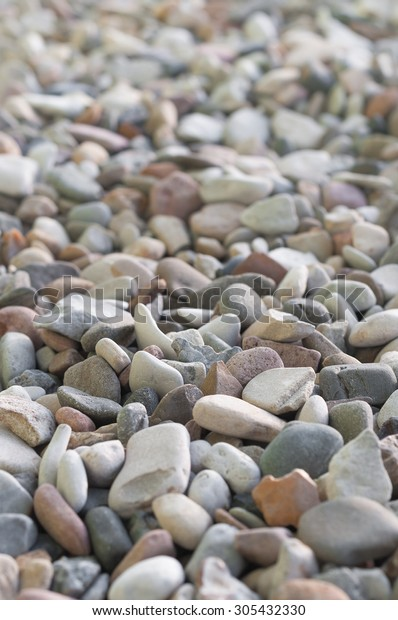 Gravel Different Stone Sizes Colors Background Stock Photo