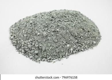 gravel grey sand asphalt mix concrete road construction isolated on white