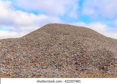 Gravel pile in gravel  mine