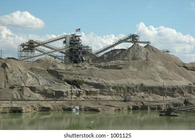 Gravel Pit Mining Operation
