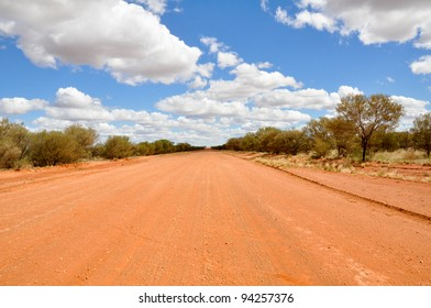 A gravel Road in the Australian Outback