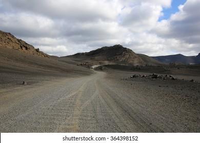 Gravel Road in Iceland