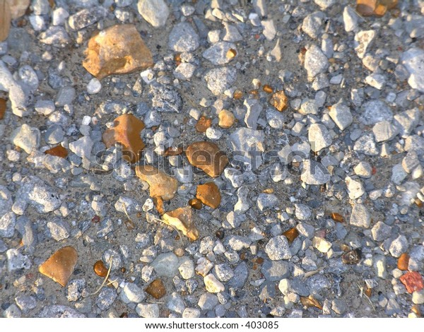 Gravel of varying colors