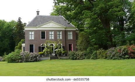 GRAVELAND, NETHERLANDS - MAY 21, 2017: Villa on the estate Gooilust in 's-Graveland. The estate is 97 hectares and has been owned by the Nature Conservation Association since 1934.
