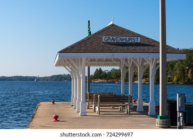 Gravenhurst Wharf with a view of a steamboat coming