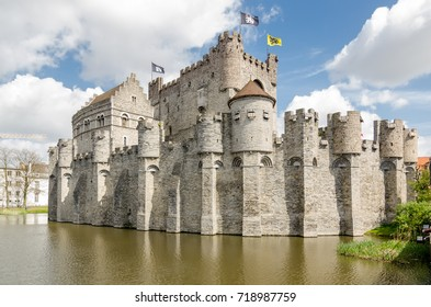 The Gravensteen or Castle of the Counts is a castle in Ghent, built in 1180 and is the only medieval castle in Flanders. Belgium