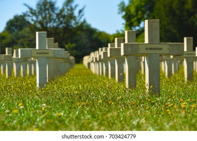 Graves at the Chasseneuil-sur-Bonnieure National Cemetery and Memorial in Central France