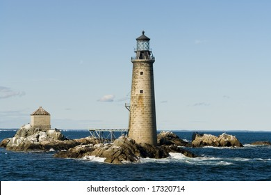 The Graves Light of Boston Harbor is an automated lighthouse eight nautical miles from Boston's inner harbor
