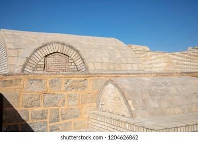 Graves at the Mausoleum of Bahouddin Nakshband, or Bakhuddin Nakshbandi, founder of Sufism in Bukhara, Uzbekistan.