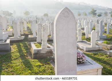 Graves at Muslim cemetery