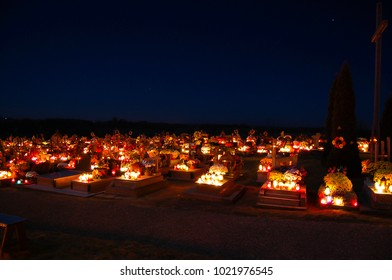 Graves on All Saints Day - Poland