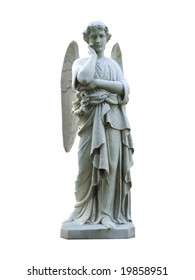 A Graveside marble Angel.