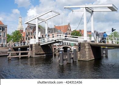 Gravestenenbrug in Haarlem/ Netherlands