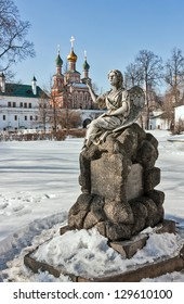 Gravestone monument. Novodevichy Convent is probably the best-known cloister of Moscow.