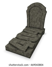 gravestone with number 404 - 3d rendering