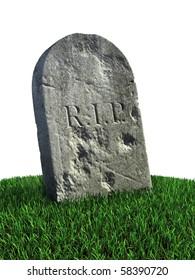 gravestone on the grass
