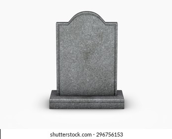 gravestone on white background