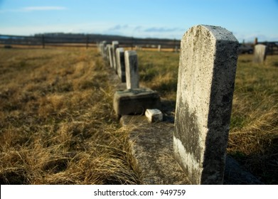 Gravestones from a civil war-era graveyard