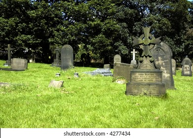 Graveyard with ancient graves