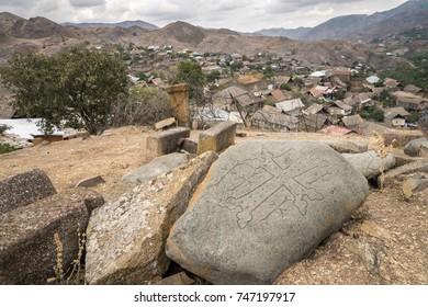 Graveyard in Bayan, Azerbaijan