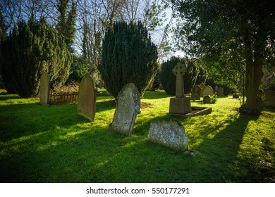 Graveyard on a sunny day in St.Albans, UK
