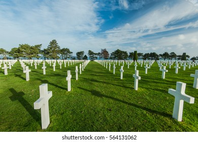 Graveyards of fallen soldiers in Normandy,France