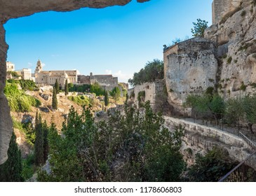 Gravina in Puglia (Italy) - The suggestive old city in stone like Matera, in province of Bari, Apulia region. Here a view of the historic center.