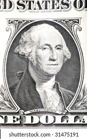 gravure of george washington detail from an old one dollar banknote