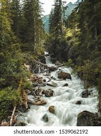 Grawa_Waterfall and stream tyrol, austria
