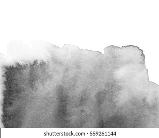 Gray abstract background in watercolor