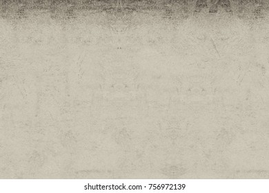 Gray Antique Background Pattern. Monochrome Watercolor Soft Blurred Ink Surface. Textile Design Grunge. Black-White Metal Texture Backdrop. Vintage Tone Poster, Cover, Sticker, Label, Postcard, Banner