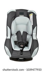 Gray baby car seat with isofix system