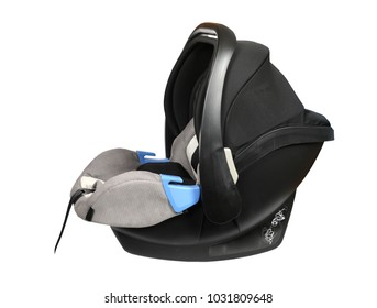 Gray baby car seat isolated
