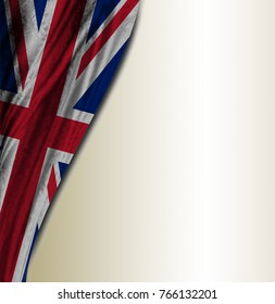 Gray background with flag of the United Kingdom
