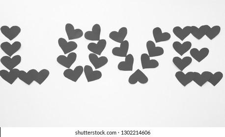 "Gray Background, ""Love"" subtitle"