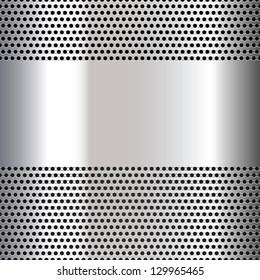 Gray background perforated sheet. Vector version also available