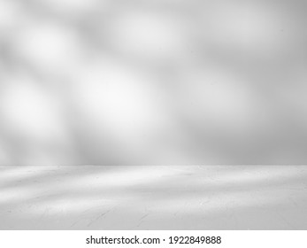 Gray background for product presentation with shadows sunlight - Shutterstock ID 1922849888