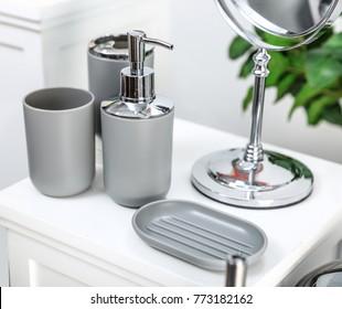 Bathroom Accessories Images, Stock Photos & Vectors