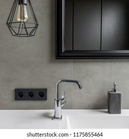Modern Black Bathroom Tap Images Stock Photos Vectors Shutterstock