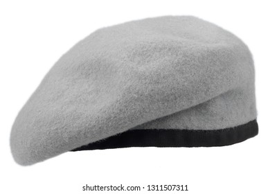 gray beret isolated on white background