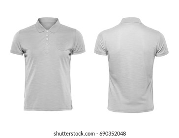 Polo shirt template images stock photos vectors shutterstock gray blank polo t shirt template isolated on white with clipping path maxwellsz