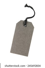Gray blank tag isolated on white background