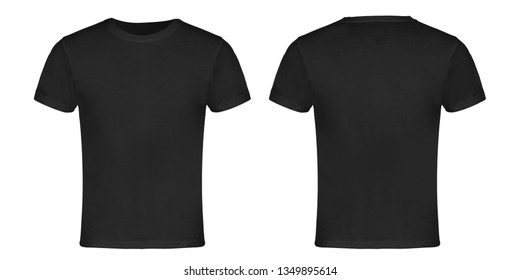 Gray Blank T-shirt Front and Back