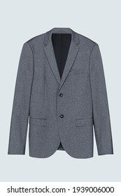 Gray blazer front view casual men's wear