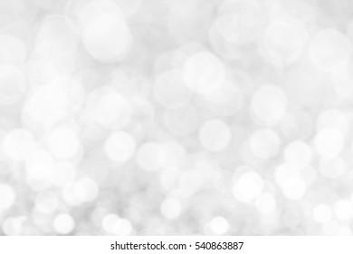 Gray blur bokeh light background