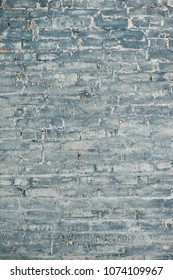 Gray brick wall background. Texture of painted brick.