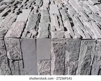Gray bricks background