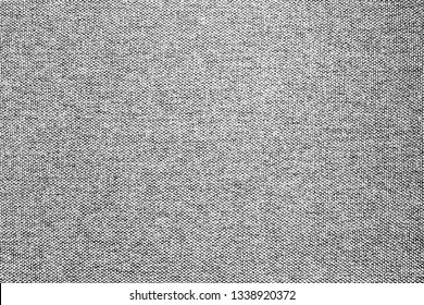 Gray canvas fabric pattern. Material background.